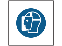 Wear face shield symbol safety sign.