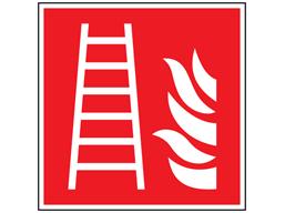 Fire ladder symbol safety sign.