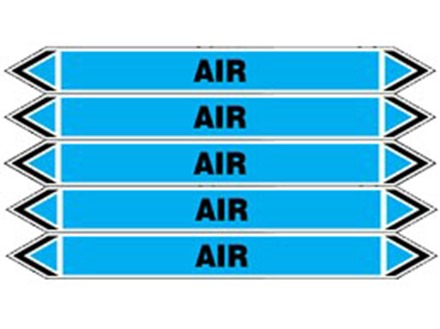 Air flow marker label.