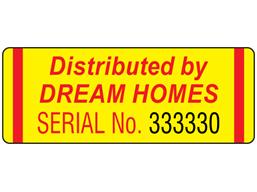 Assetmark serial number label (logo / full design), 19mm x 50mm