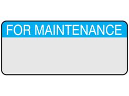For maintenance aluminium foil labels.