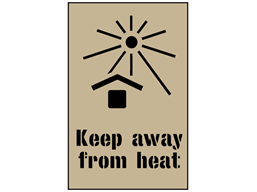 Keep away from heat stencil