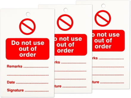 Do not use out of order tag.