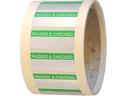 Packed and checked aluminium foil labels.