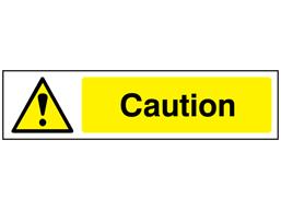Caution, mini safety sign.