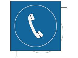 Telephone symbol sign.