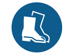 Foot protection symbol label
