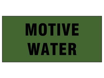 Motive water pipeline identification tape.