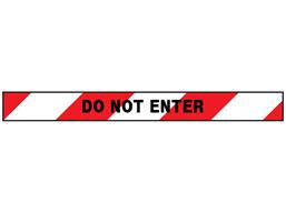 Do not enter barrier tape