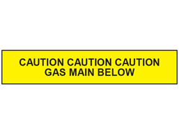 Caution gas main below tape.