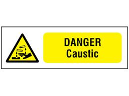 Danger caustic safety sign.
