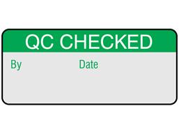 QC checked aluminium foil labels.