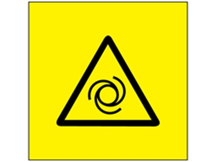 Automatic start hazard symbol labels.