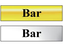 Bar metal doorplate