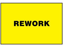 Rework sign.