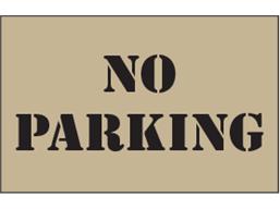 No parking heavy duty stencil