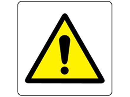 Caution warning symbol label.