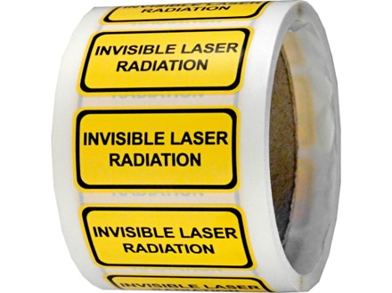 Invisible laser radiation equipment warning safety label.