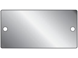 Blank aluminium nameplate, 51mm x 101mm