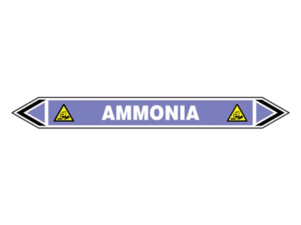 Ammonia flow marker label.