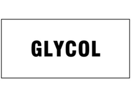 Glycol pipeline identification tape.