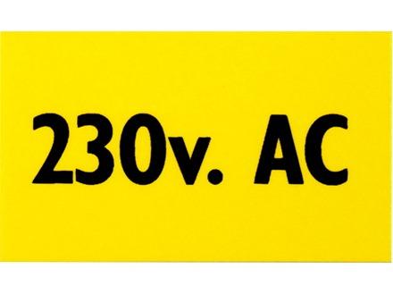 Danger 230 v AC