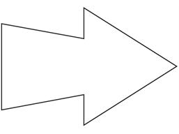 Floor marking arrows