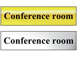 Conference metal doorplate