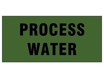 Process water pipeline identification tape.