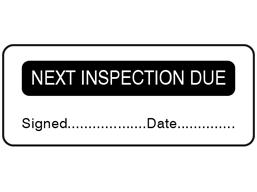 Next inspection due label