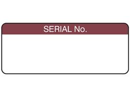 Serial number label