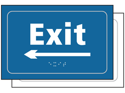 Exit, arrow left sign.