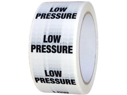 Low pressure pipeline identification tape.