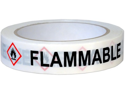 Flammable GHS tape.