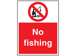 No fishing sign.