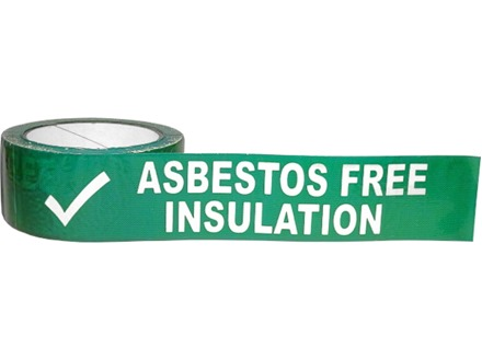 Asbestos free insulation safety tape.