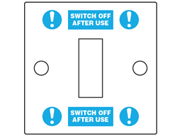 'Switch Off After Use' Light Switch Labels