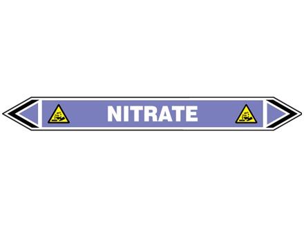 Nitrate flow marker label.