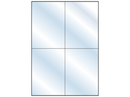 Transparent laminate labels, 148mm x 105mm