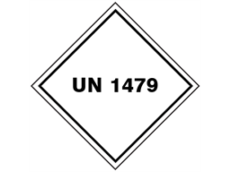 UN 1479 (Bleaching products ) label.