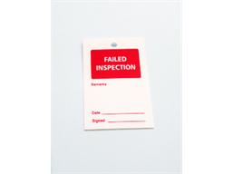 Failed inspection tag