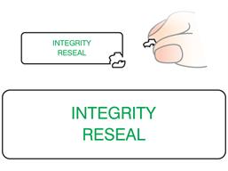 Integrity reseal label