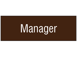Manager, engraved sign.