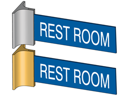 Projecting door sign bracket and sign, large
