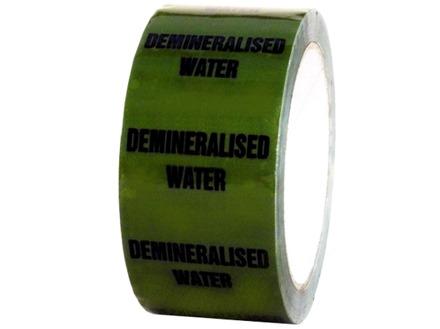 De-mineralised water pipeline identification tape.
