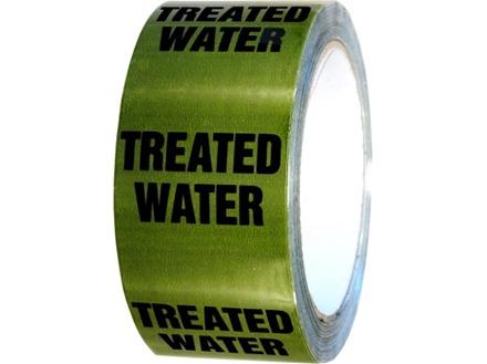 Treated water pipeline identification tape.
