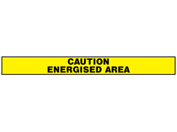 Caution, energised area barrier tape