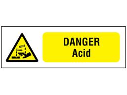 Danger acid safety sign.