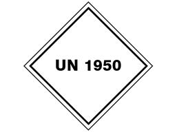 UN 1950 (Aerosols) label.