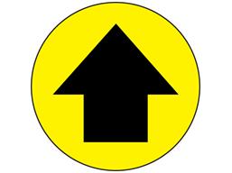 Directional arrow floor marker